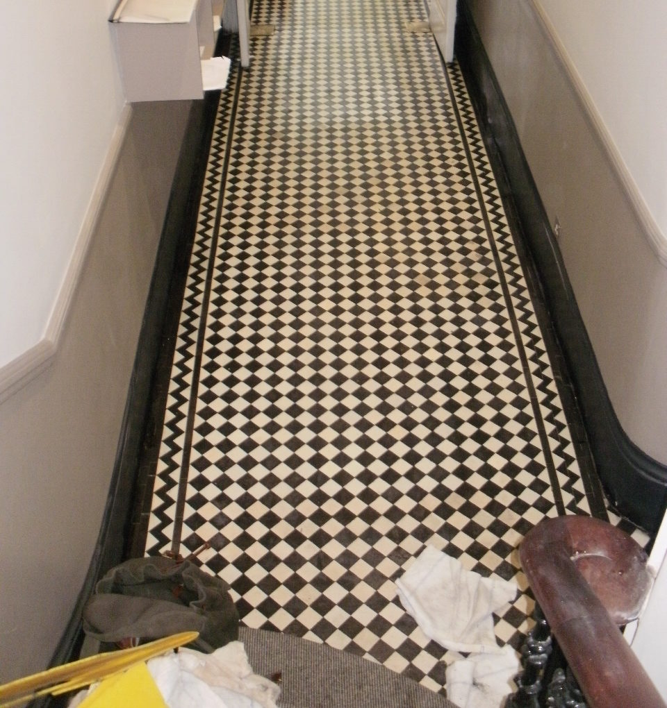 Replacing Missing Victorian Tiles Cleaning And