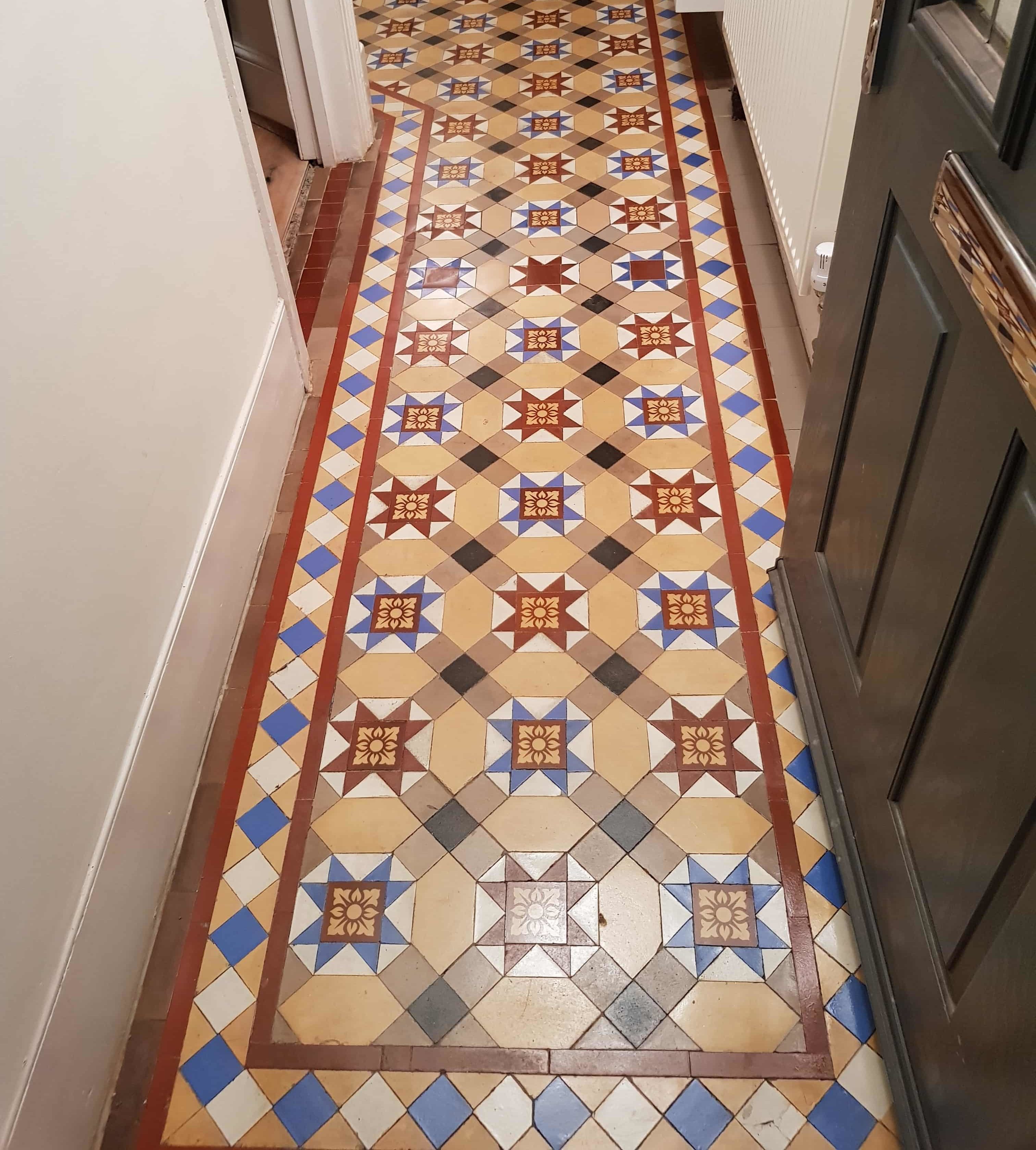 Green Hallway Victorian: Victorian Tiled Hallway Repaired And Restored Following