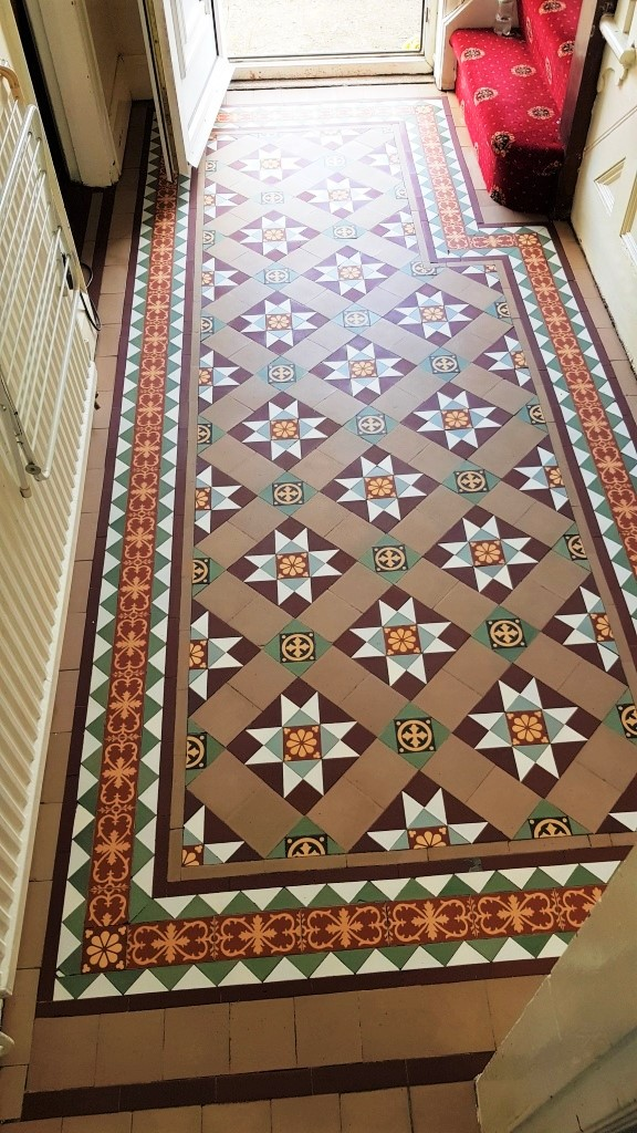 Victorian Tiled Floor After Cleaning Sealing