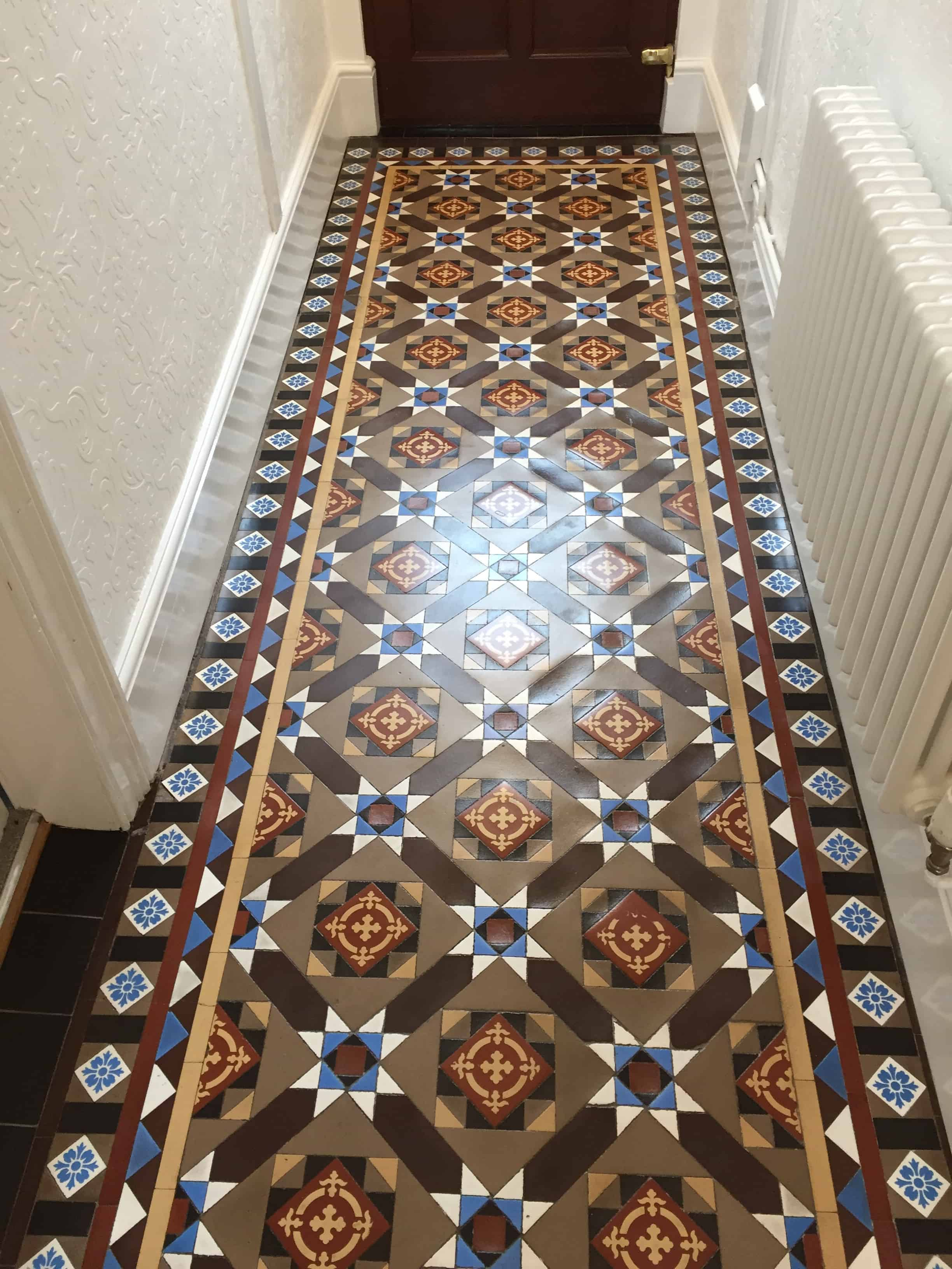 Victorian Tiled Hallway After Restoration