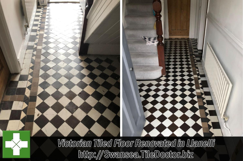 victorian tiled diamond pattern floor